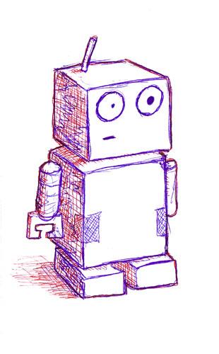 Estereotipo de un robot. (dibujo)